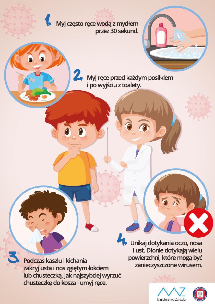 Znalezione obrazy dla zapytania: zasady higieny dla dzieci koronawirus