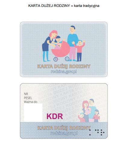 Karta Dużej Rodziny - karta tradycyjna
