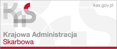Logo Krajowej Administracji Skarbowej na szaro-białym tle