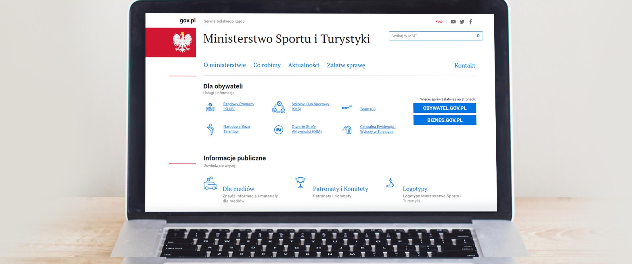Ministerstwo Sportu i Turystyki dołączyło do portalu Gov.pl