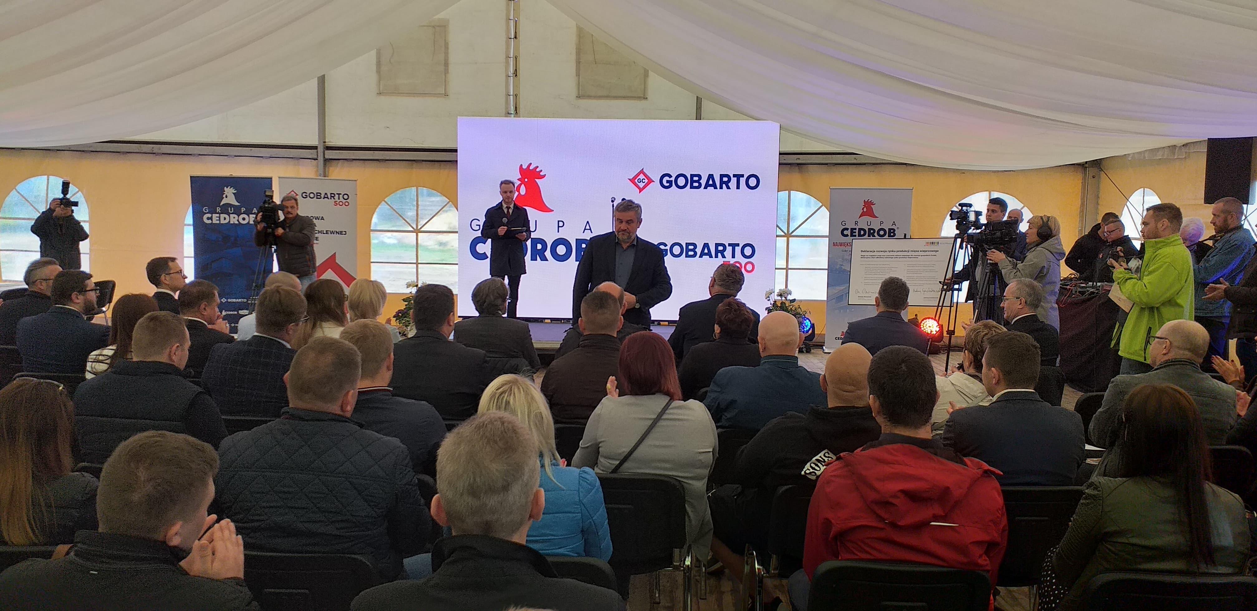 Minister J. K. Ardanowski podczas uroczystości otwarcia