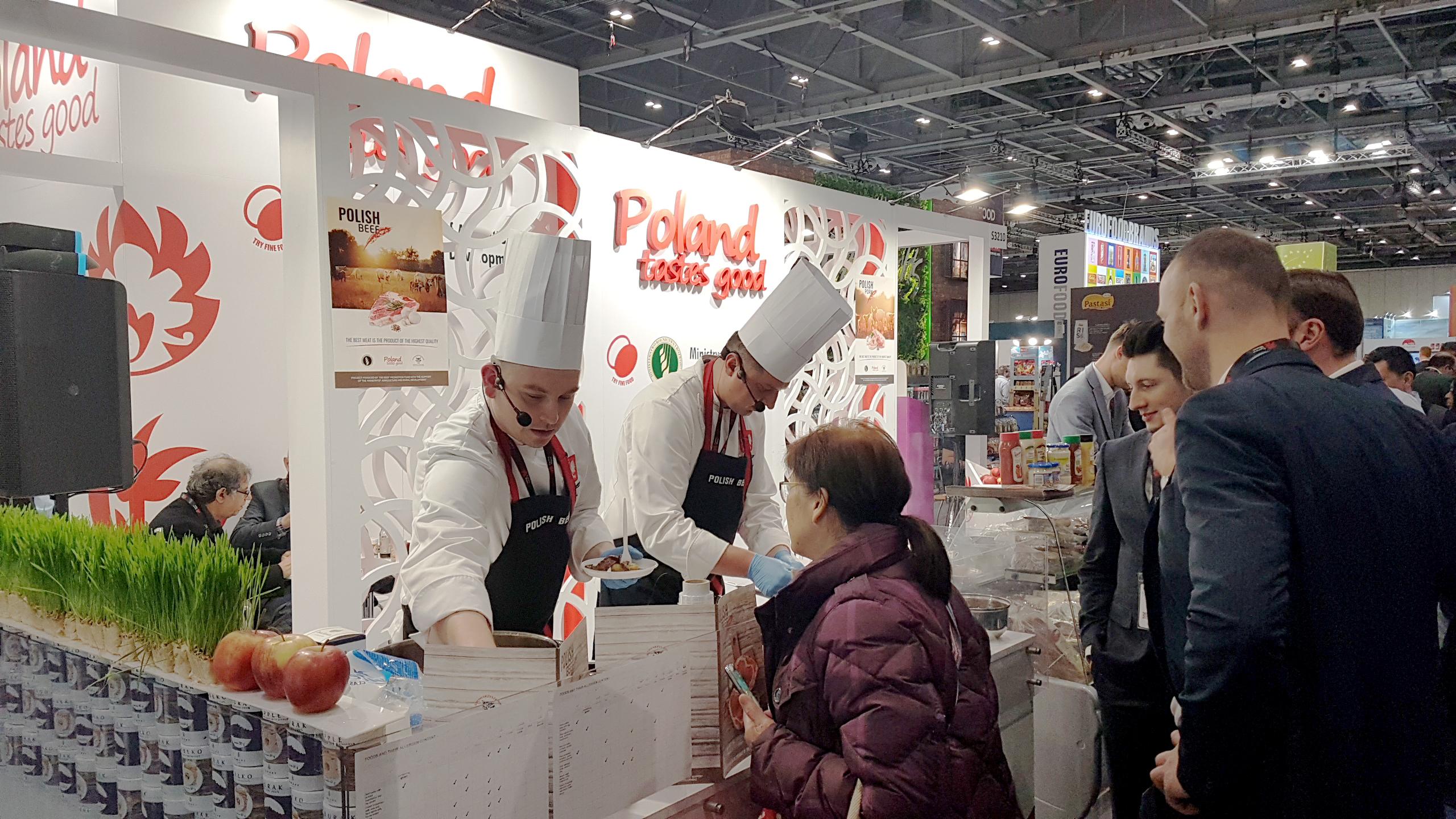 Degustacja polskiej żywności - targi IFE Londyn