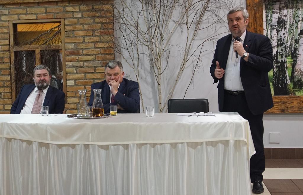 Min. J.K. Ardanowski podczas wystąpienia w Bielsku Podlaskim