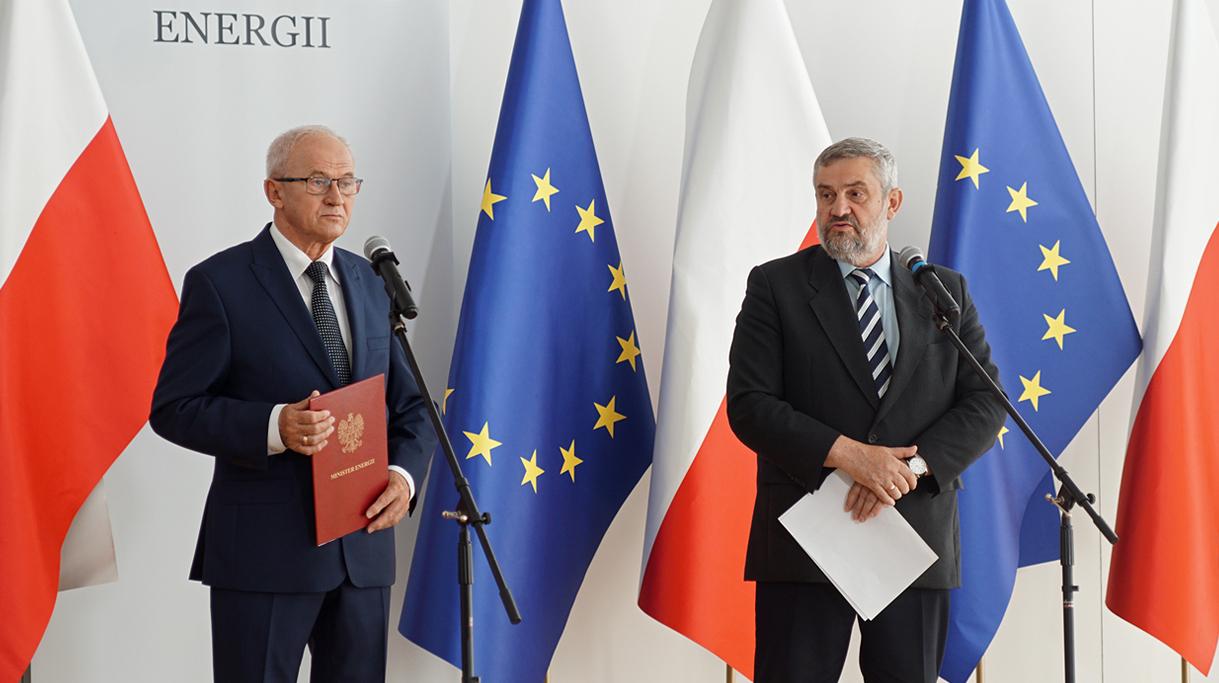 Minister Ardanowski i Minister Tchórzewski podczas konferencji prasowej
