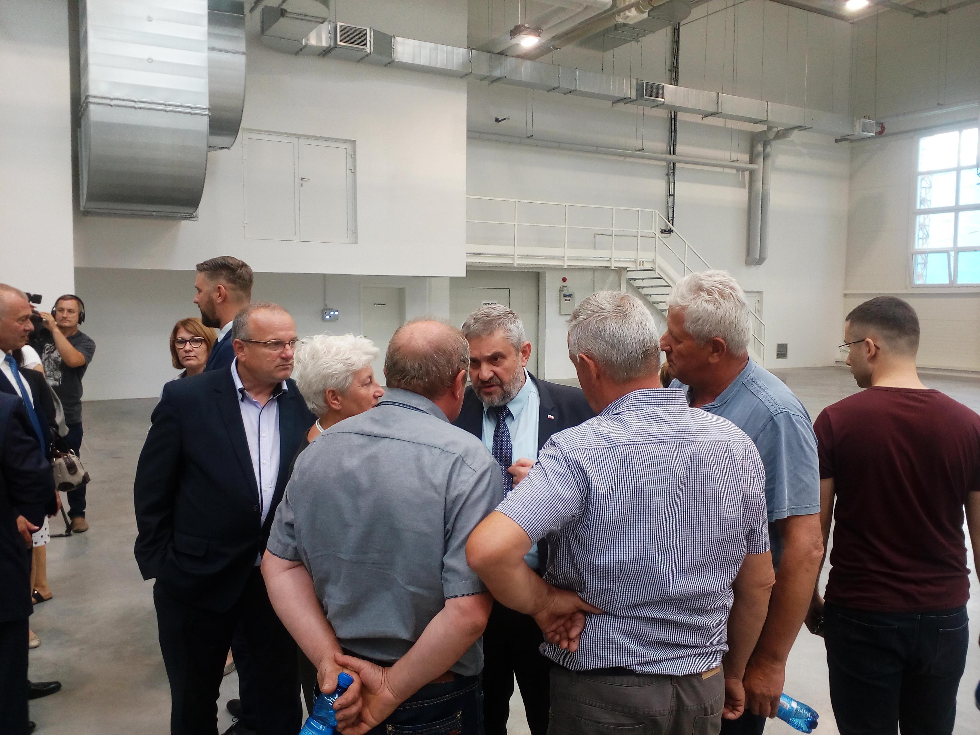 Minister Ardanowski podczas rozmów