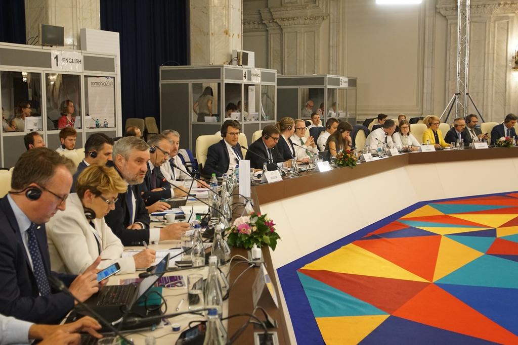 Minister J.K. Ardanowski podczas Nieformalnej Rady AGRIFISH w Bukareszcie