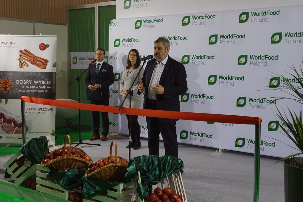 Minister J.K. Ardanowski podczas otwarcia Targów