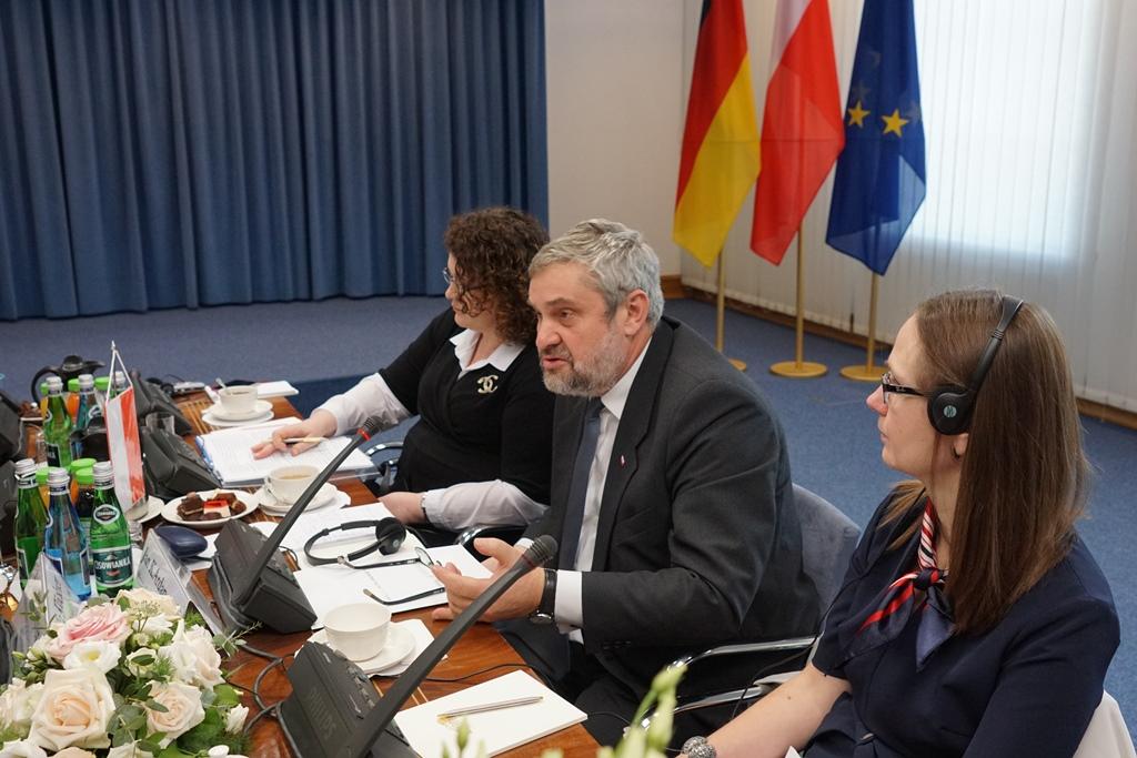 Minister Jan Krzysztof Ardanowski podczas rozmów o rolnictwie w ramach 15. Polsko-Niemieckich Konsultacji Międzyrządowych