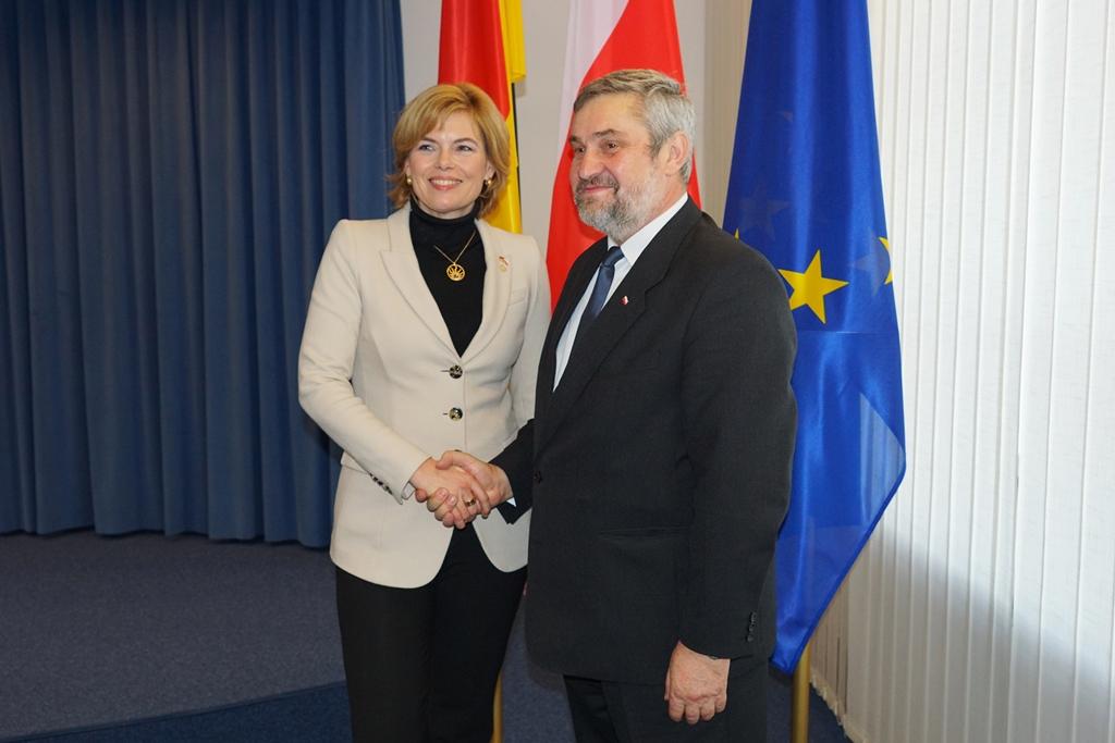 Minister rolnictwa Jan Krzysztof Ardanowski oraz niemiecka minister rolnictwa Julia Klöckner