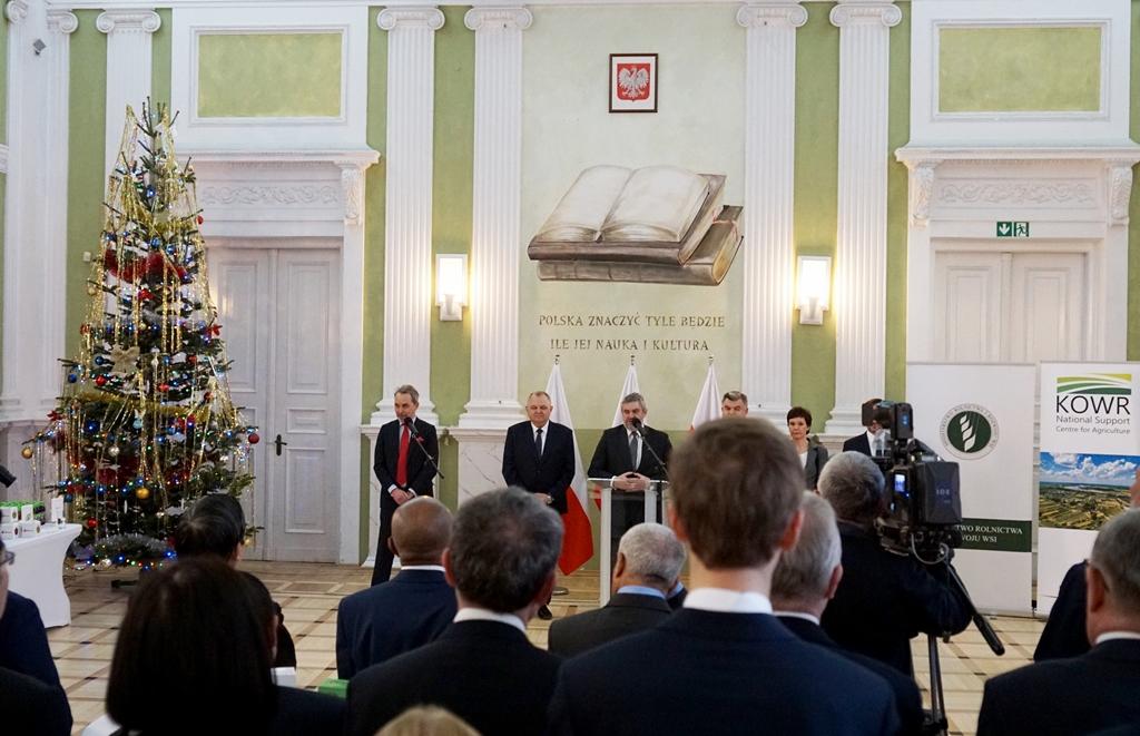 Noworoczne spotkanie ministra rolnictwa z dyplomatami