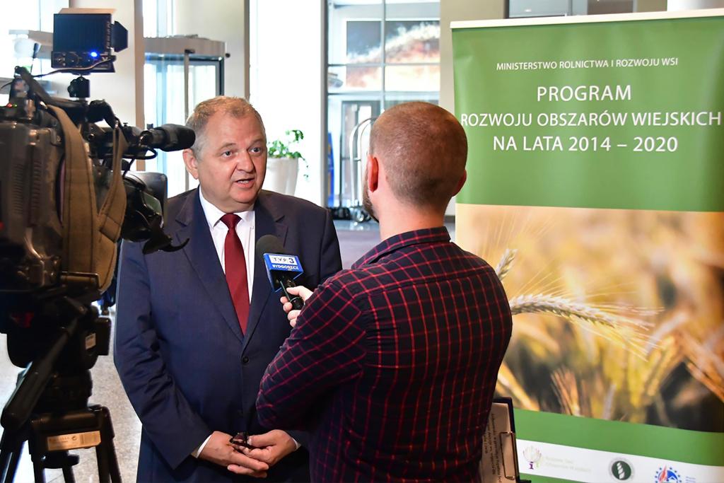 Podsekretarz Stanu Ryszard Zarudzki udziela wywiadu
