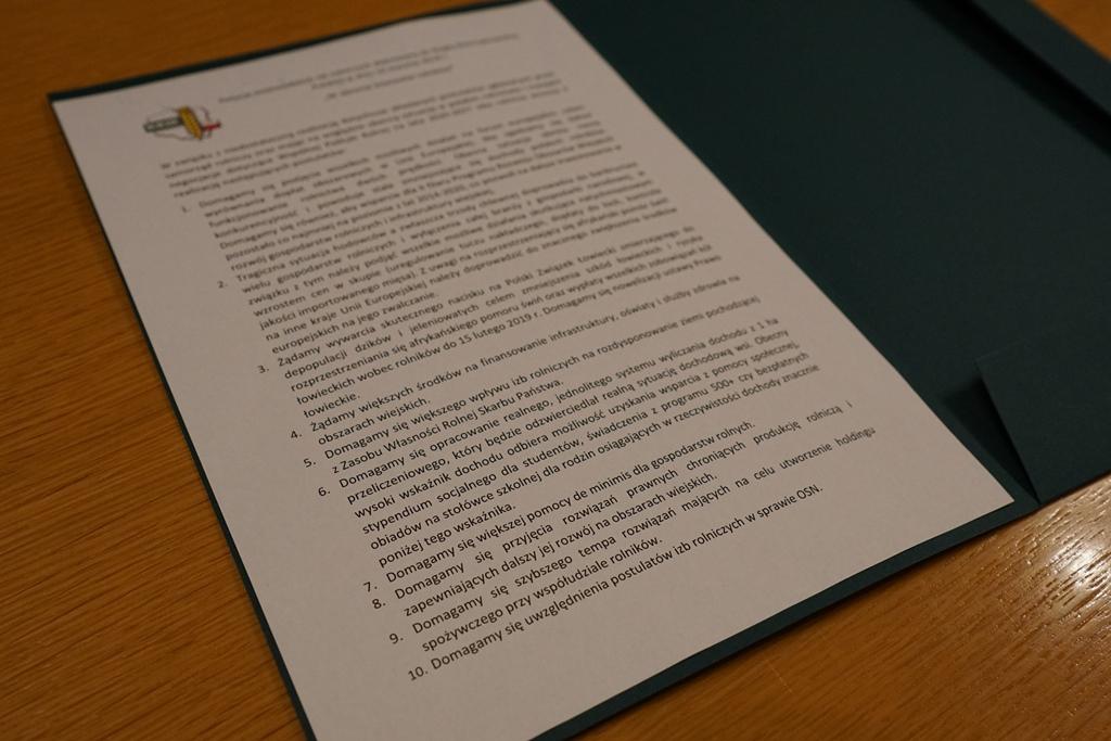 Postulaty KRiRW przekazane ministrowi rolnictwa