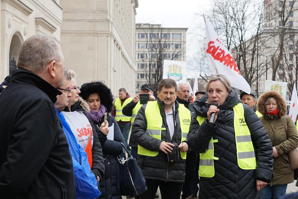 Pracownicy ODR rozmawiają z wiceministrem rolnictwa