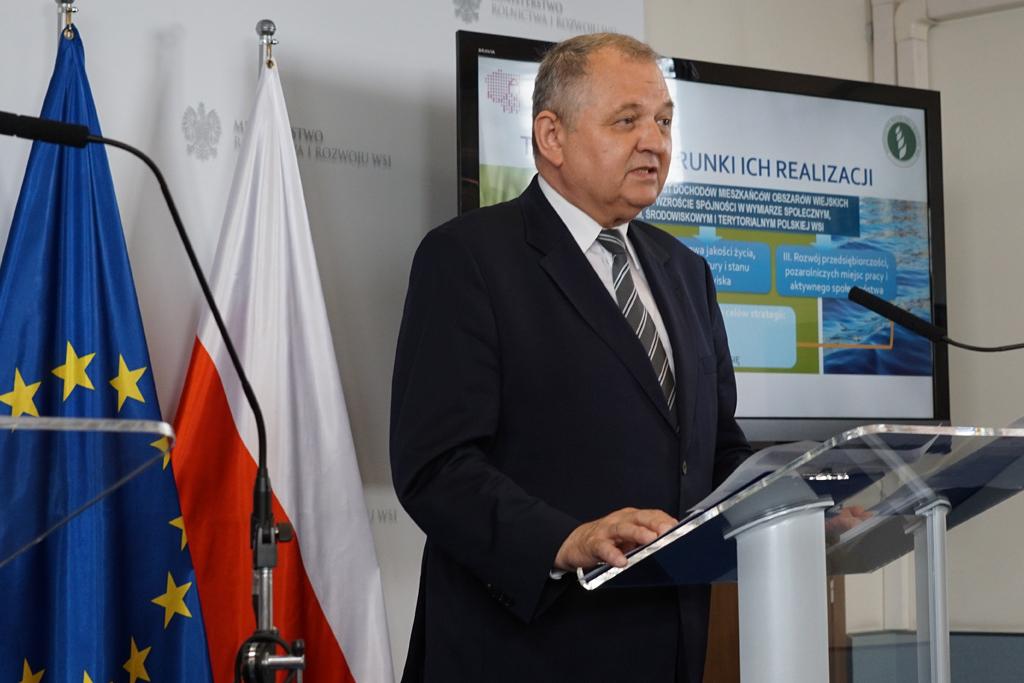Prezentacja projektu przez podsekretarza stanu Ryszarda Zarudzkiego