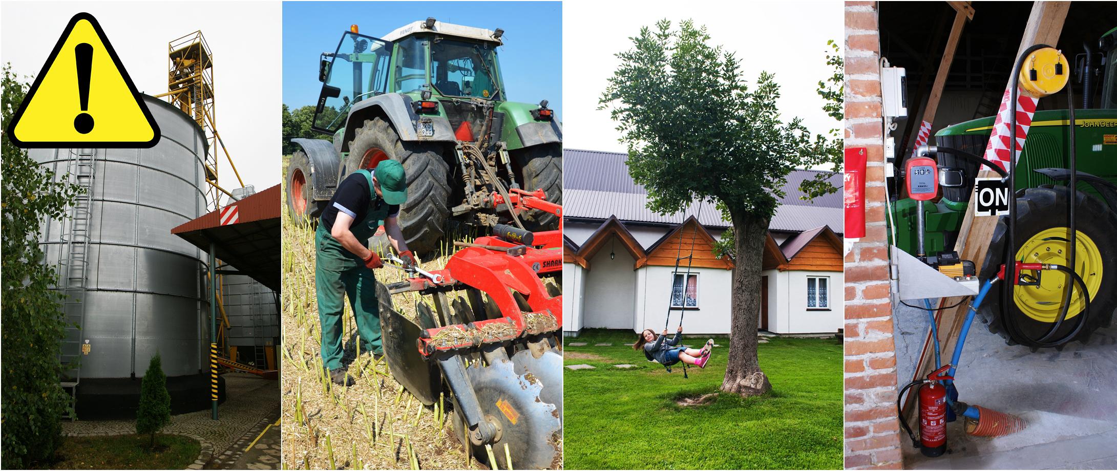 Kolaż - bezpieczne gospodarstwo rolne