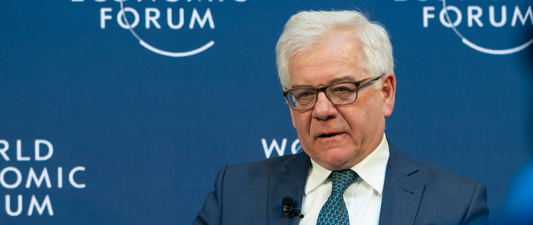 Minister of Foreign Affairs Jacek Czaputowicz at World Economic Forum in Davos