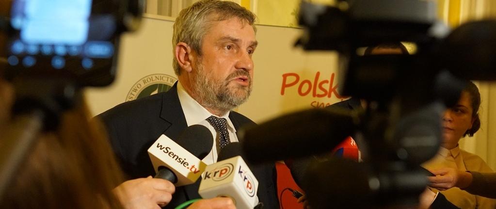 Minister Ardanowski podsumowuje spotkanie