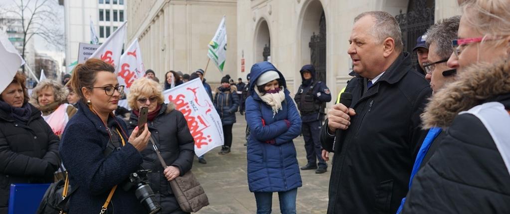 Spotkanie z protestującymi