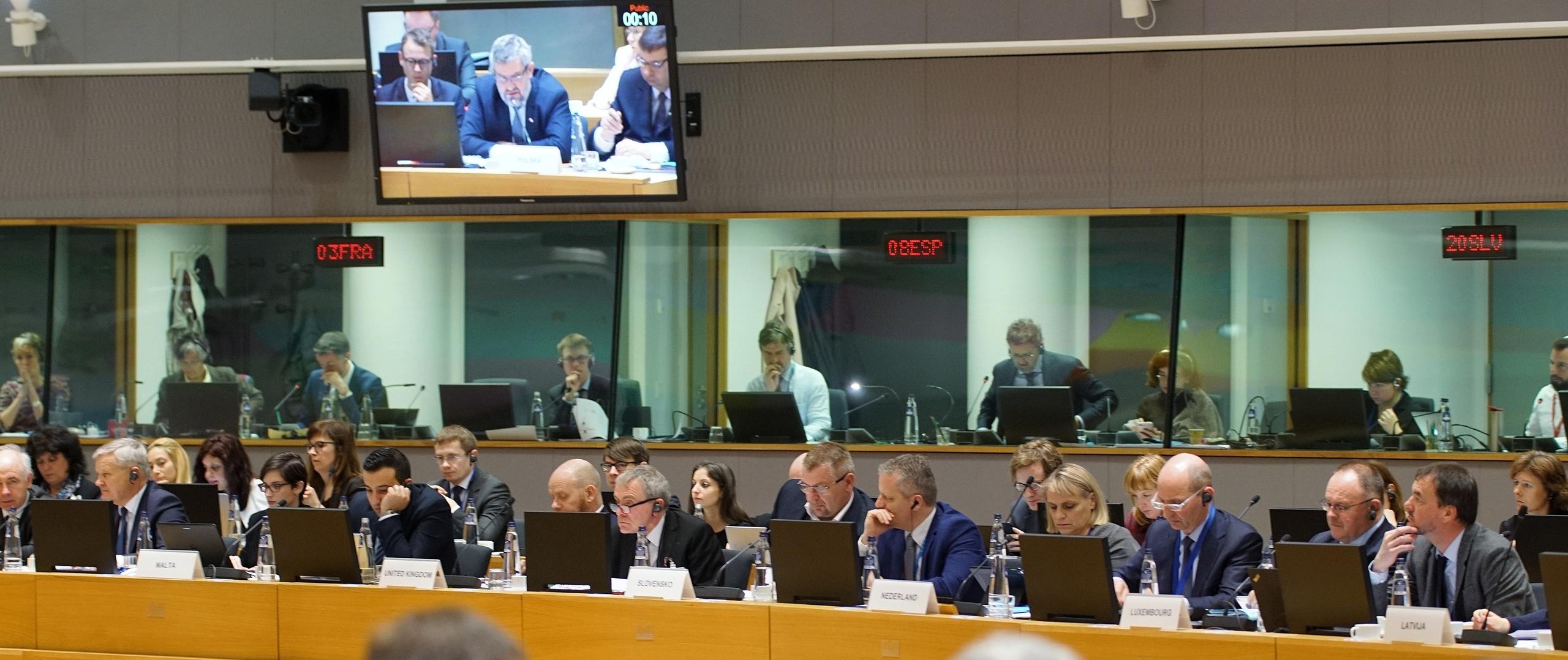 Posiedzenie Rady Ministrów w Brukseli
