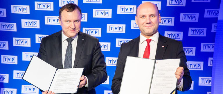 MFA signs an agreement with Polish Television on TVP Wilno