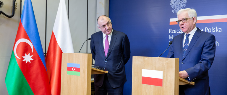 Press conference with Minister of Foreign Affairs of Azerbaijan