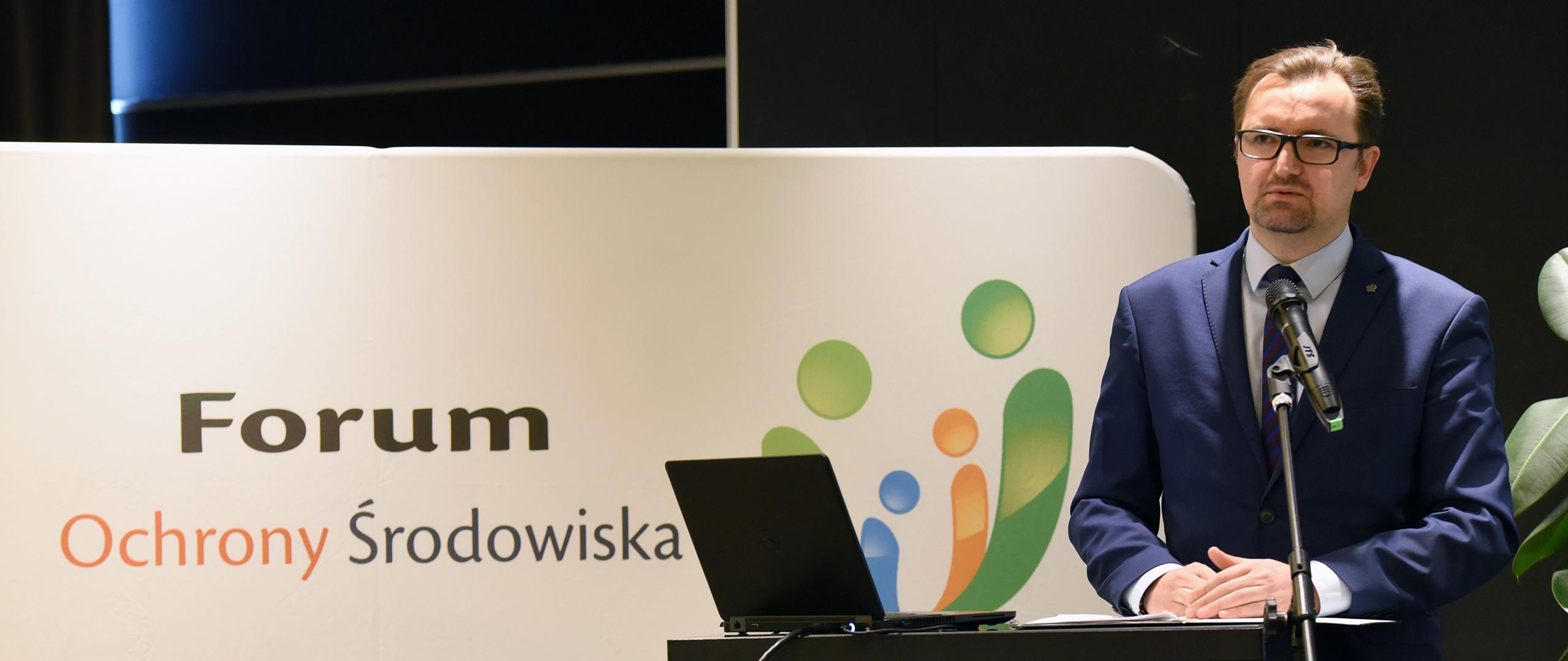 Wiceminister Sławomir Mazurek na V Forum Ochrony Środowiska