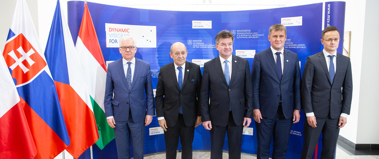 Meeting of Visegrad Group's and France's top diplomats