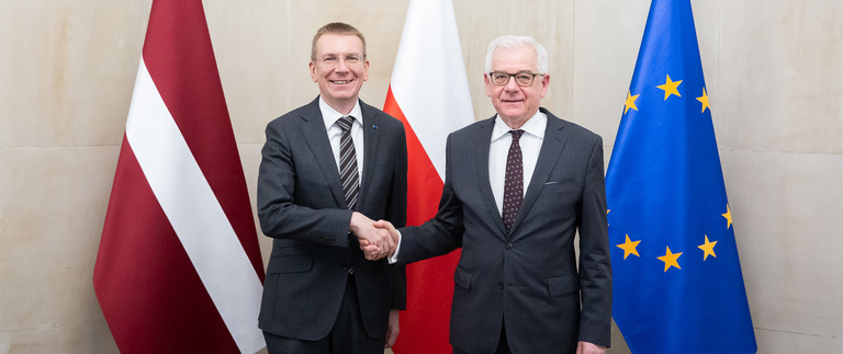 Latvian foreign minister visits Poland
