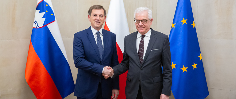 Minister Jacek Czaputowicz meets with Deputy Prime Minister and Foreign Minister Miro Cerar of Slovenia