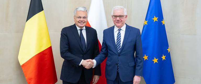 Minister Jacek Czaputowicz meets with Foreign Minister Didier Reynders of Belgium