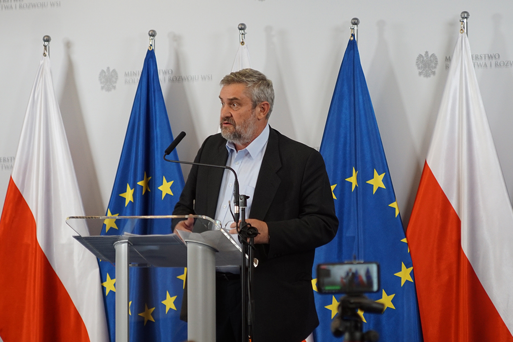Minister Ardanowski podczas wystąpienia