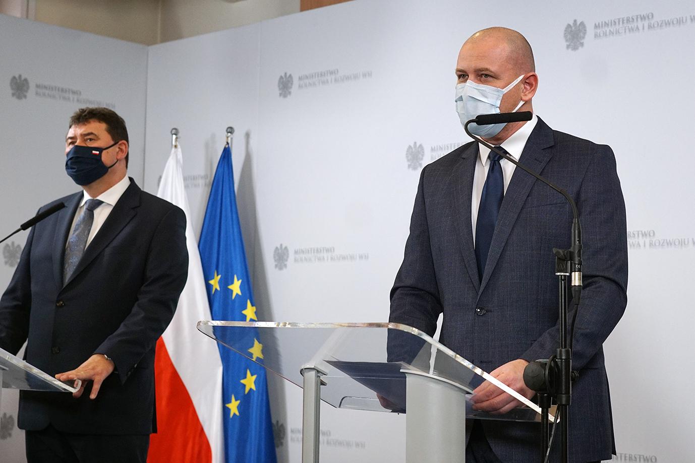 Sekretarz Stanu Ryszard Bartosik oraz Paweł Wyszyński z Krajowego Ośrodka Wsparcia Rolnictwa
