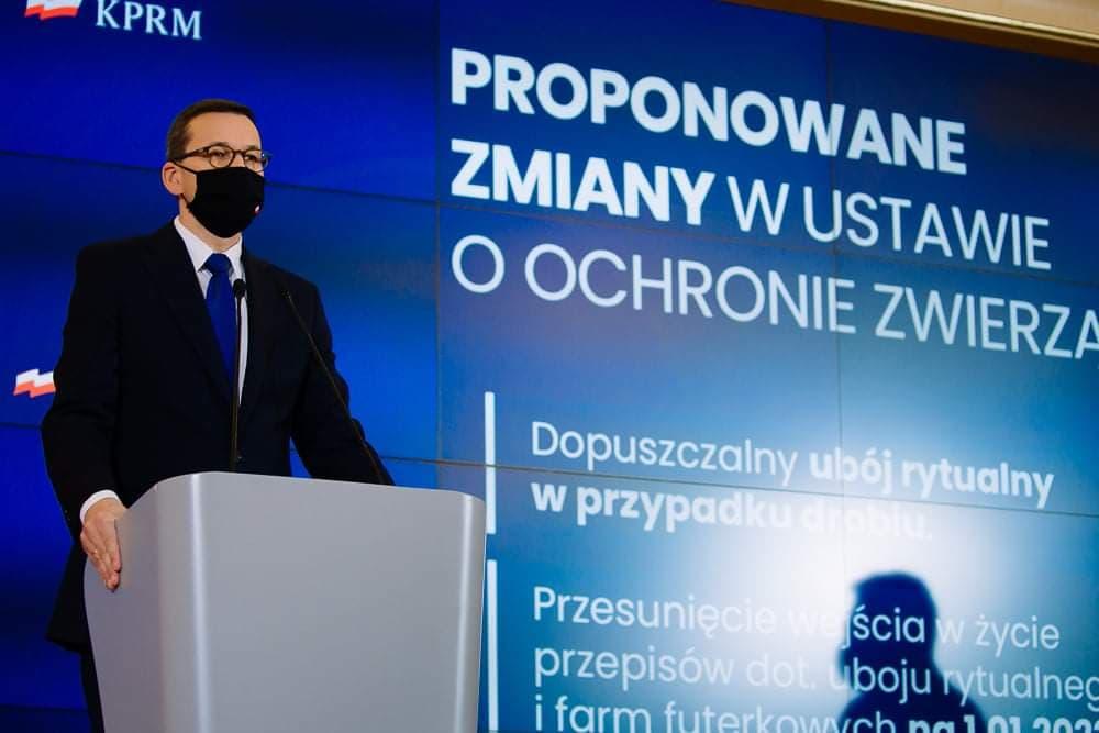 Premier Mateusz Morawiecki podczas konferencji prasowej Fot. Krystian Maj KPRM