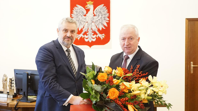 Min. J. K. Ardanowski i nowo nominowany podsekretarz stanu Ryszard Kamiński