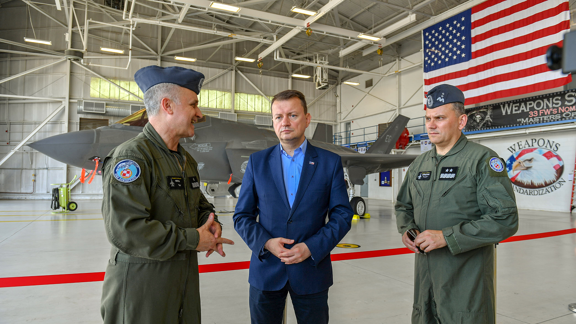 On June 10, the head of the Ministry of National Defence began his visit to the USA and visited the Eglin Air Force Base, where, among others he became acquainted with the F-35 development program - the latest - 5th generation aircraft.