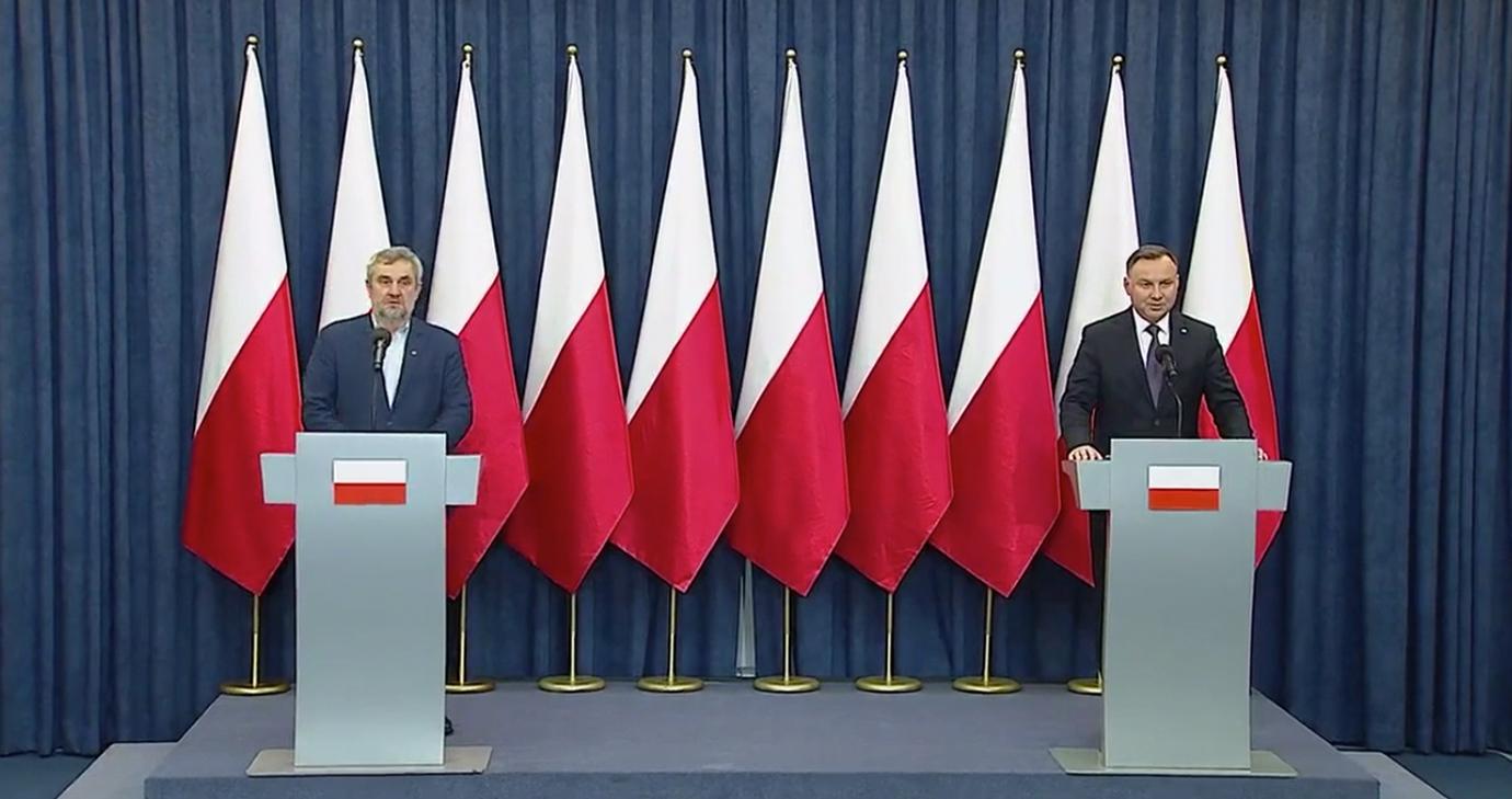 Konferencja Prezydenta RP A. Dudy i min. J. K. Ardanowskiego