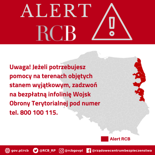 Alert RCB 13 września.
