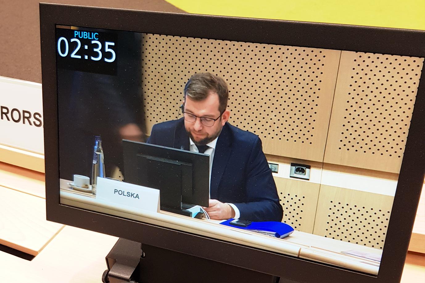 Minister Grzegorz Puda podczas Posiedzenia Rady