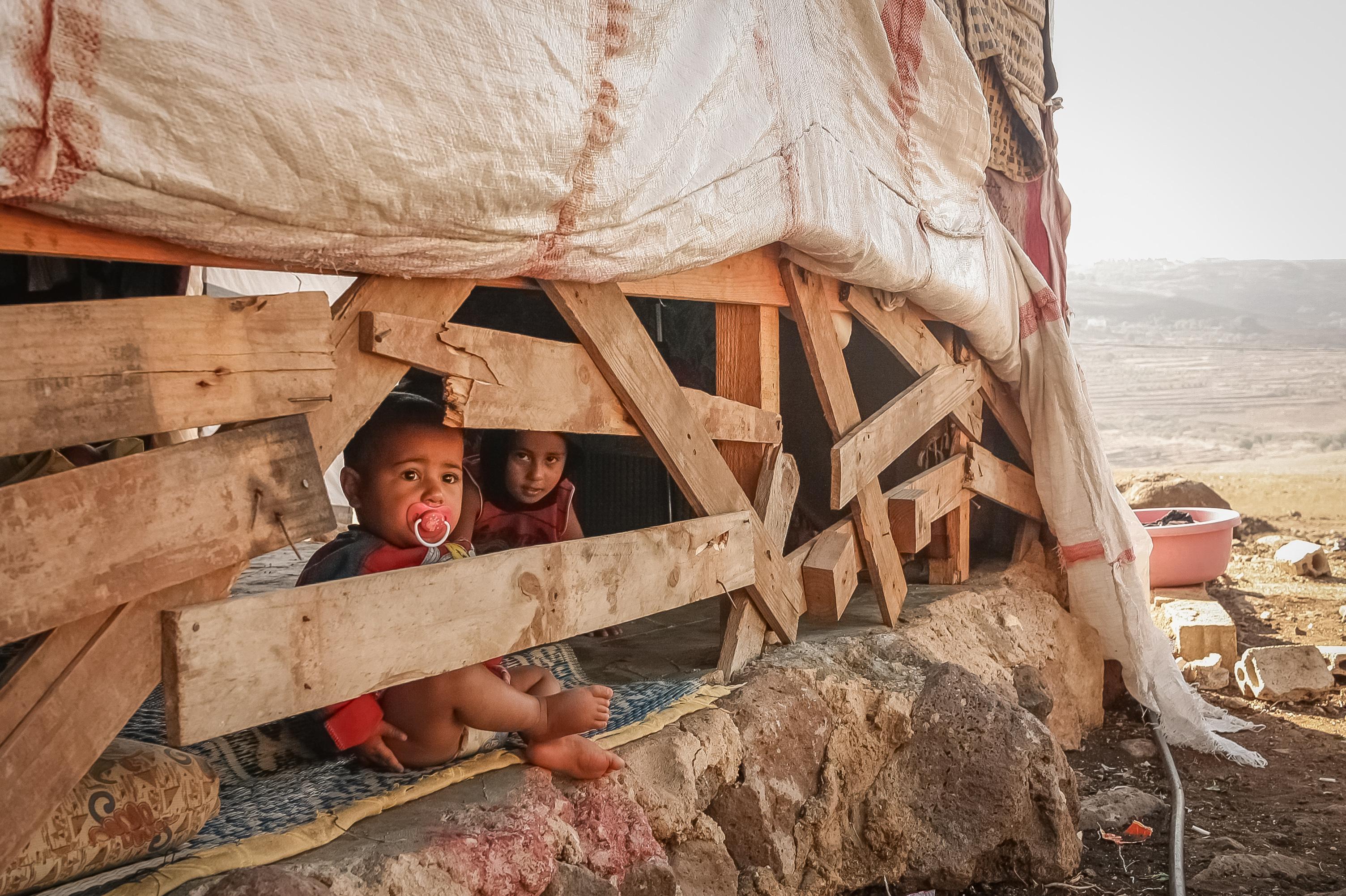 children of Syrian refugees in Lebanon