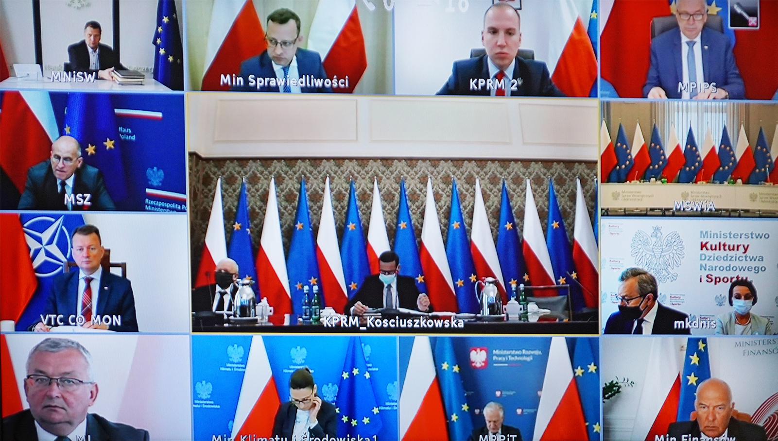 Posiedzenie Rady Ministrów online (fot. MRiRW)