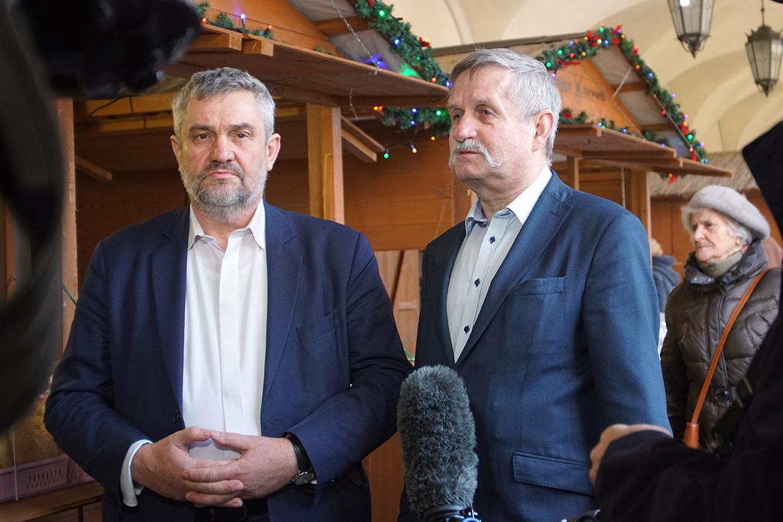 Min. J. K. Ardanowski oraz Dyrektor NIKiDW Karol Krajewski