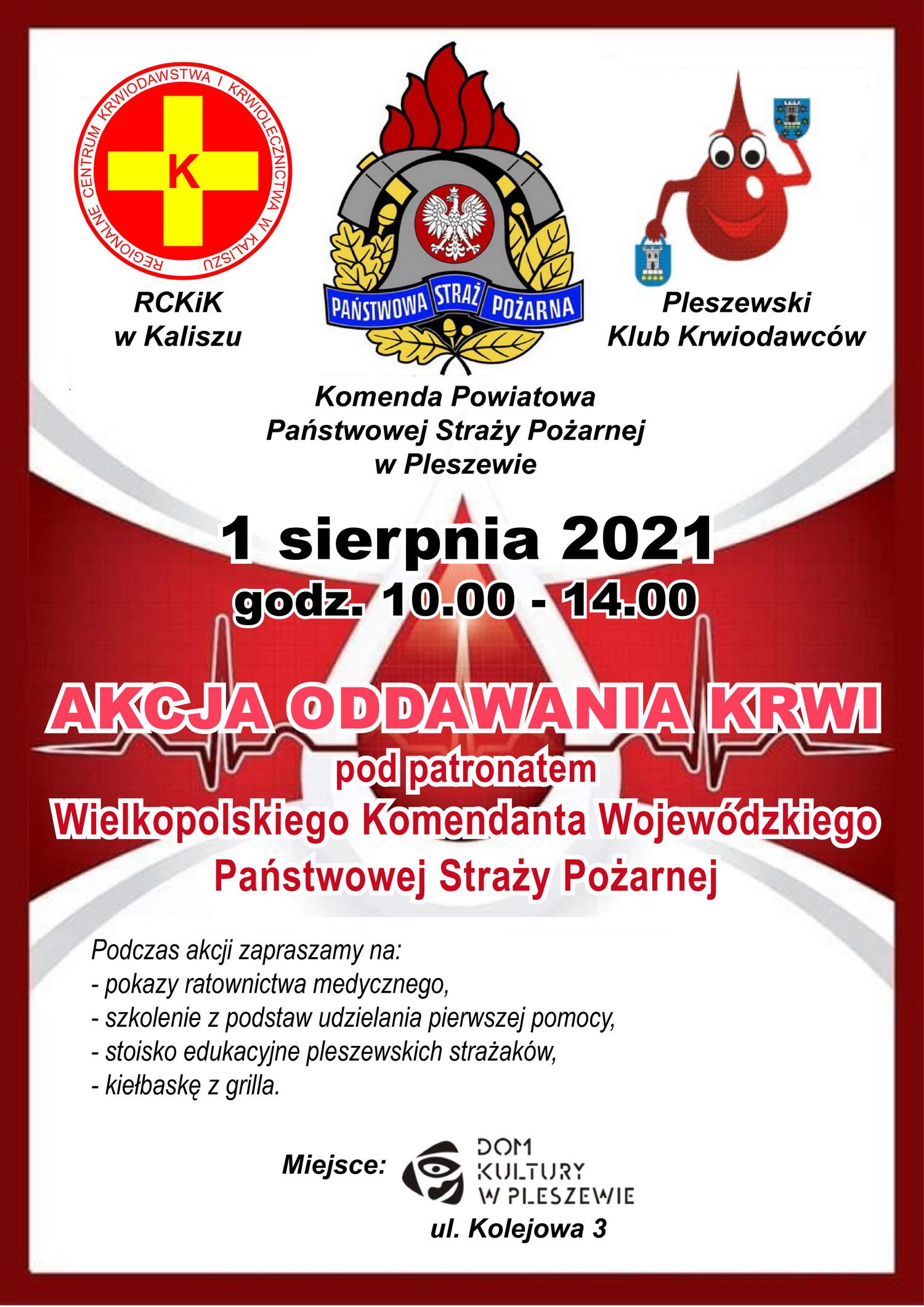 Akcja oddawania krwi w Pleszewie
