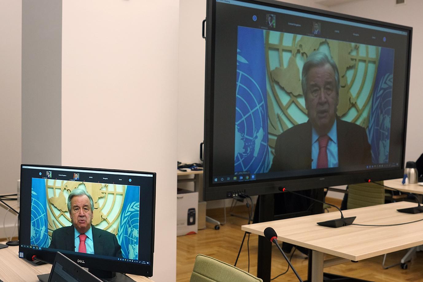 Berliński Szczyt Ministrów Rolnictwa. Sekretarz generalny ONZ António Guterres (Fot. MRiRW)