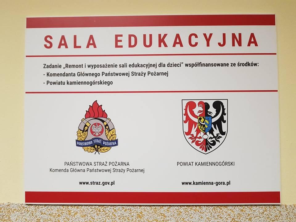 Sala Edukacyjna - tabliczka