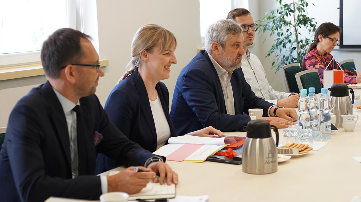 Polska delegacja uczastnicząca w spotkaniu