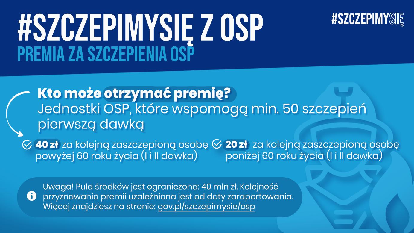 Premia za szczepienie OSP