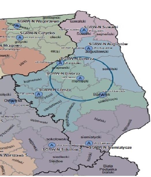 Mapa SGRW-N