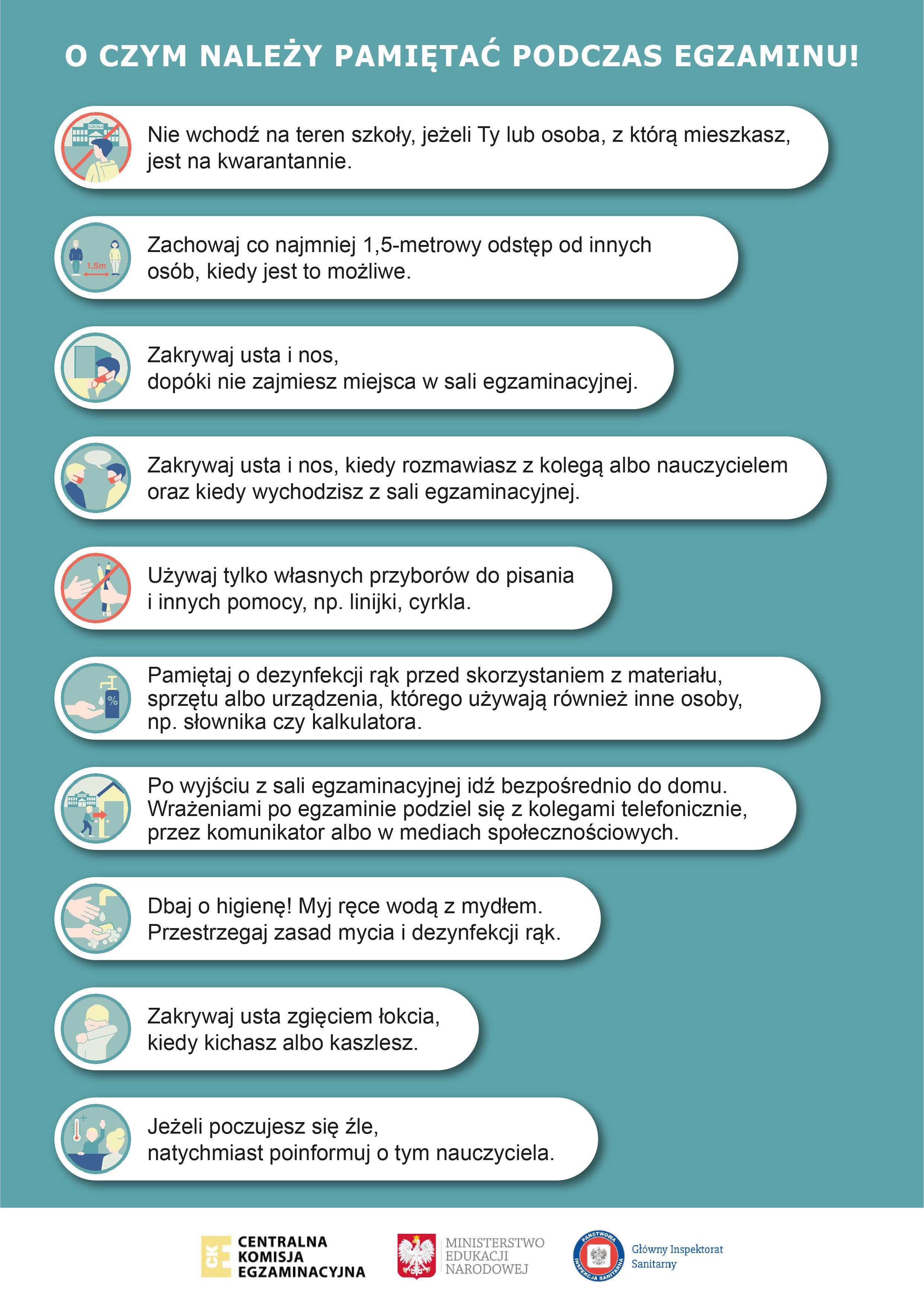 Przygotowania do egzaminów zewnętrznych – wytyczne MEN, CKE i GIS ...