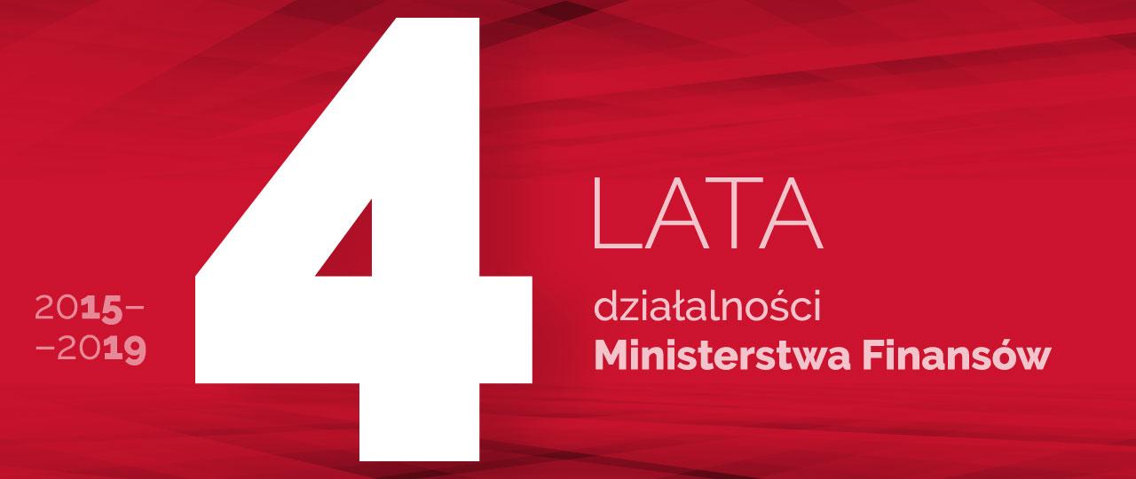 logotyp 4 lata działalności MF