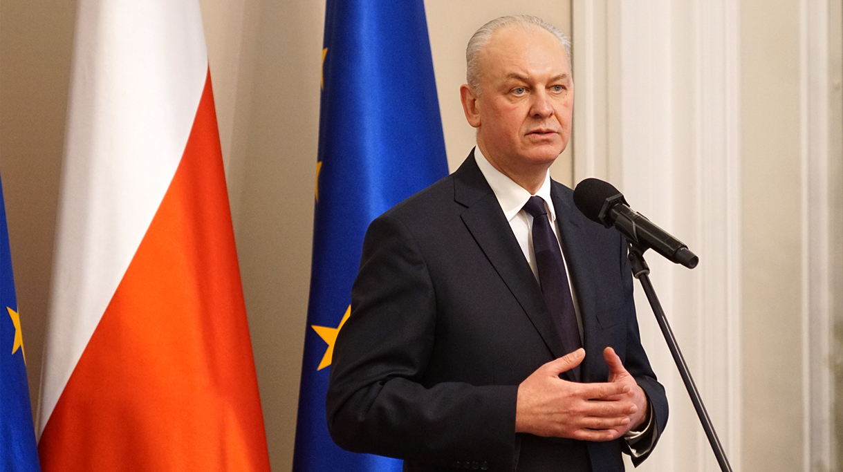 Główny inspektor ochrony rośli i nasiennictwa A. Chodkowski podczas wystąpienia